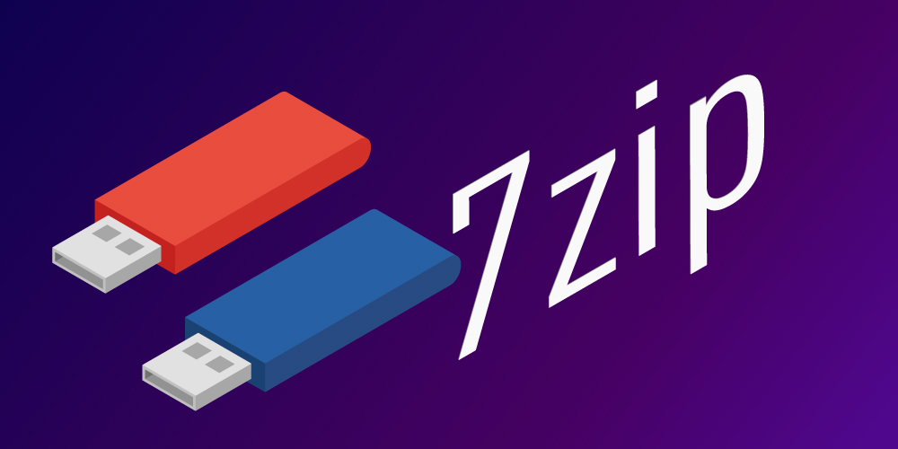 Encrypted flash drives and 7Zip